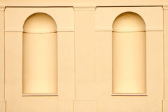 Wall. Niches in the castle wall without statues Stock Photo