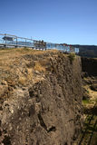 Wall of Niebla Fort, Chile Royalty Free Stock Image