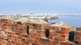The wall of Nizhny Novgorod, Russia Stock Photography