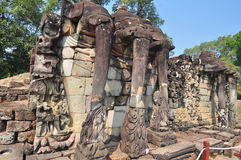 The wall of North stairway,Cambodia Royalty Free Stock Photos