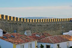Wall of Obidos Stock Photo