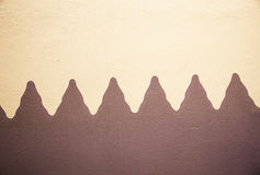 Wall ocre and brown Royalty Free Stock Image