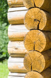 Wall Of A Rural Log House Royalty Free Stock Photo