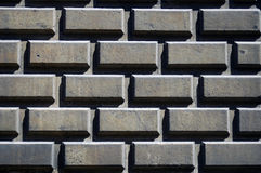 Wall Of Concrete Blocks Royalty Free Stock Photos