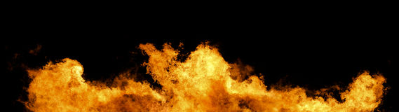 Wall Of Fire Panorama Royalty Free Stock Images