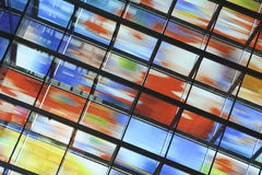 Wall Of Glass With Many Colours Royalty Free Stock Images