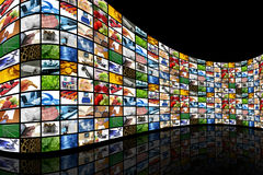 Free Wall Of Screens Royalty Free Stock Photography - 14694967