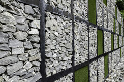 Free Wall Of Stone And Artificial Grass Stock Photography - 44660452