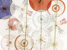 Wall Of Umbrellas Royalty Free Stock Images