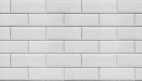Wall Of White Tiles. Royalty Free Stock Photos