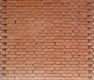 Symmetry in a red brick wall stock image