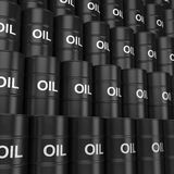Wall of Oil Barrels Royalty Free Stock Image