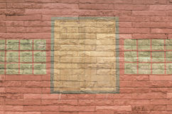 Wall. Old art color red royalty free illustration