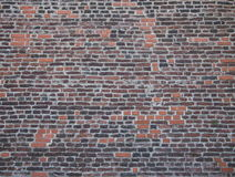 Wall of a an old bastion. Of a Vysehrad complex (Prague, 17th century). Combination of old and renovated bricks royalty free stock image
