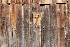 Wall from old boards stock photography