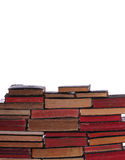 Wall of old books with aged pages Royalty Free Stock Images