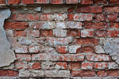 The wall of the old brick house . Royalty Free Stock Images