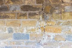 Wall of an old bricklaying background Stock Images