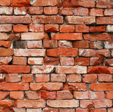 Wall from old bricks as background Stock Photos