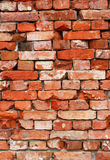 Wall from old bricks as background Stock Photo