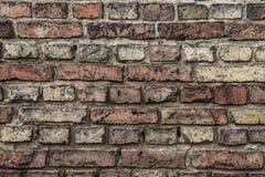 A wall of old bricks Royalty Free Stock Photo