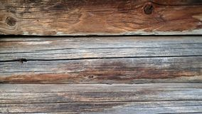 Wall of old brown logs Stock Image