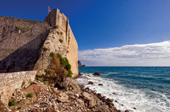 On the wall of old Budva Royalty Free Stock Photo