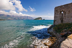 On the wall of old Budva Royalty Free Stock Photography