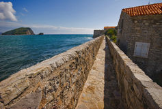 On the wall of old Budva Royalty Free Stock Images