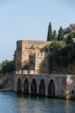 Wall of the old fortress in Alanya Stock Photography