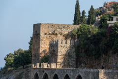Wall of the old fortress in Alanya Royalty Free Stock Photography