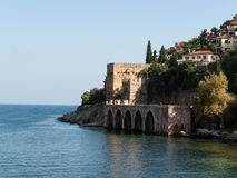 Wall of the old fortress in Alanya Royalty Free Stock Photos