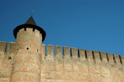 Wall of old fortress in Hotyn,Ukraine Royalty Free Stock Photography