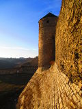 Wall of the old fortress with a turret, Kamenets Podolskiy, Ukraine Stock Image