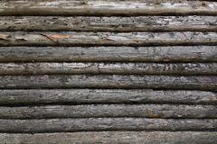 Wall of  old house from logs Royalty Free Stock Photography