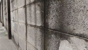 Wall of an old house Made of brick blocks. Royalty Free Stock Photo