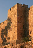 Wall in the old Jerusalem. Royalty Free Stock Images