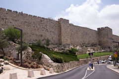 The wall of old Jerusalem Royalty Free Stock Images