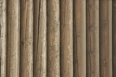 Wall of old logs. Close up background texture Royalty Free Stock Image