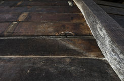 Wall of old planks of building a barn to store hay Royalty Free Stock Photography