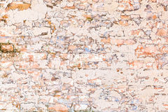 Wall of the old plaster and paint as a background. Stock Image