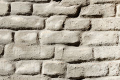 Wall of old plastered brickwork Royalty Free Stock Photo
