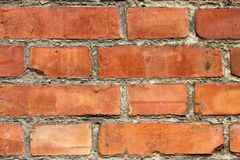 Wall. Old wall with red brick Royalty Free Stock Images