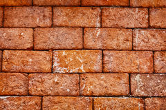 Wall of old red brick close up - background Royalty Free Stock Photos