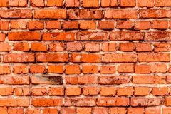 Wall of old red brick, grunge style background texture, can use for design. stock photos