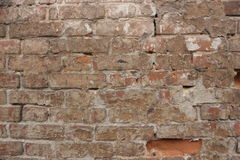 A wall of old red brick Royalty Free Stock Image