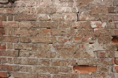 A wall of old red brick Stock Images