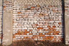 Wall from an old red brick. Stock Image