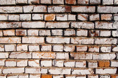 Wall from an old red brick. Stock Photo