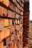 Wall from an old red brick. Royalty Free Stock Photography